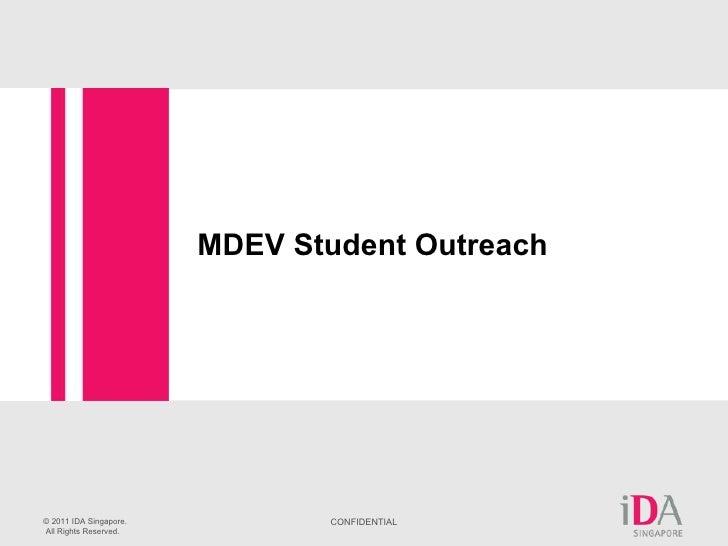 MDEV Student Outreach