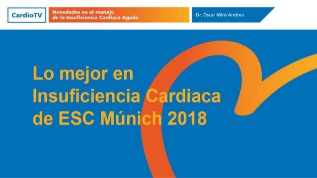 Insuficiencia cardiaca Abordaje multidisciplinar, integral y continuidad asistencial Tratamiento farmacológico