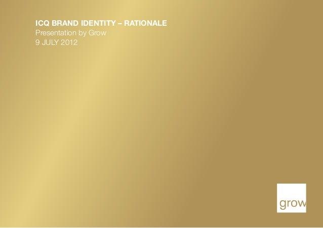 Brand identity rationale