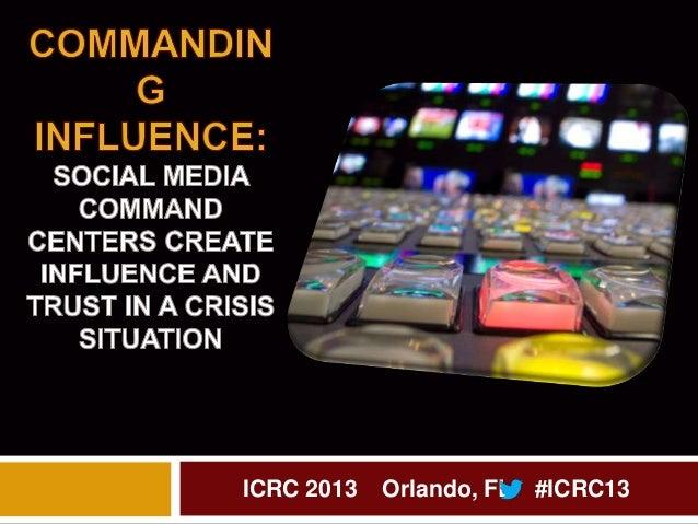 ICRC 2013   Orlando, FL #ICRC13
