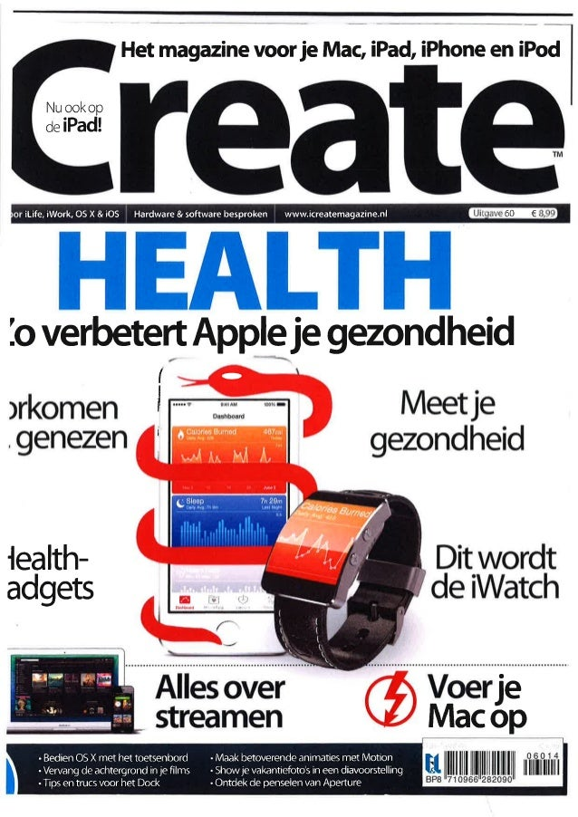 Het magazine voor je Mac, iPad, iPhone en iPod  Nu ook op  oe iPad!  ilife, iWork, OS X & ¡OS Hardware & software besproke...