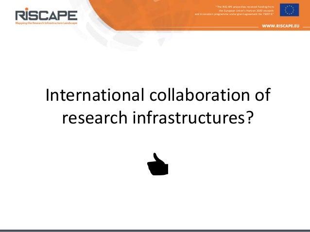 RISCAPE at ICRI 2018 - presentation at panel discussion Slide 2