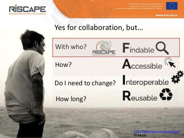 RISCAPE at ICRI 2018 - presentation at panel discussion Slide 3
