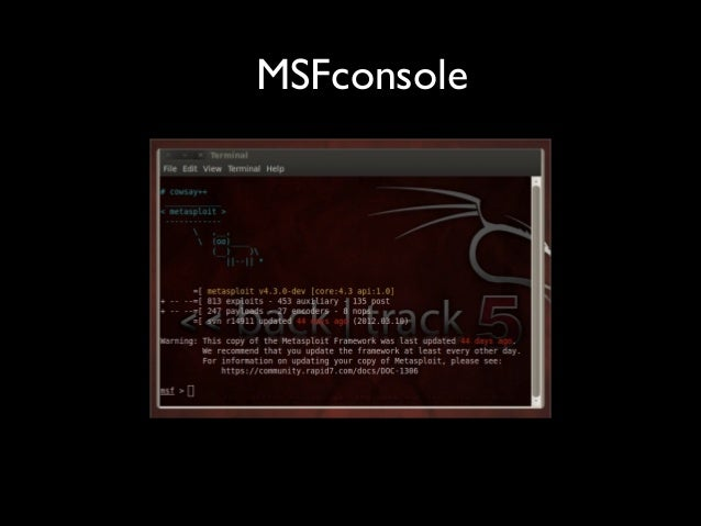 MSFconsole
