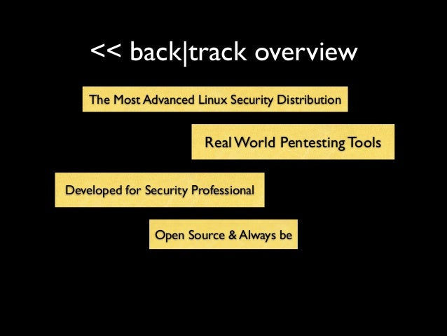 << back|track overview • . The Most Advanced Linux Security Distribution Open Source & Always be Developed for Security Pr...