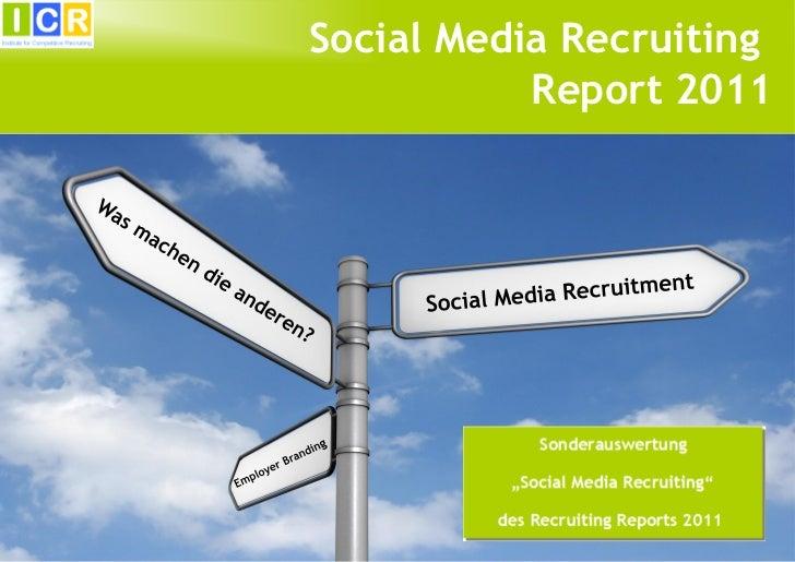 Social Media Recruiting           Report 2011