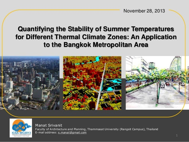 November 28, 2013  Quantifying the Stability of Summer Temperatures for Different Thermal Climate Zones: An Application to...
