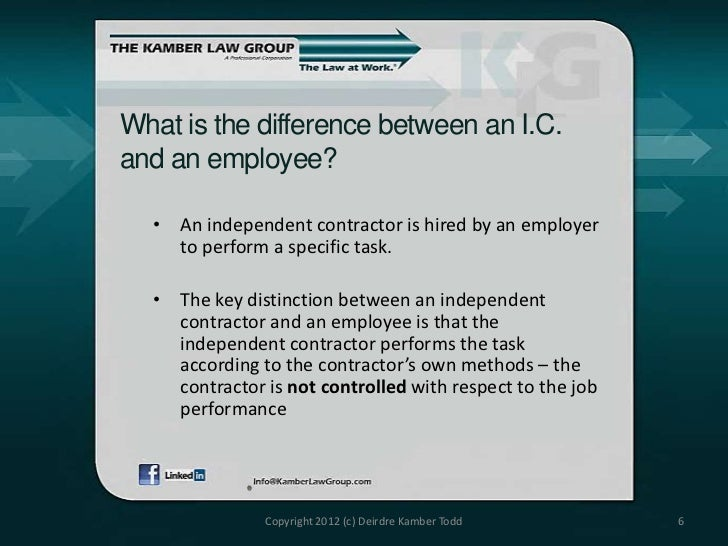 Independent Contractors Vs Employees Classification And Correction
