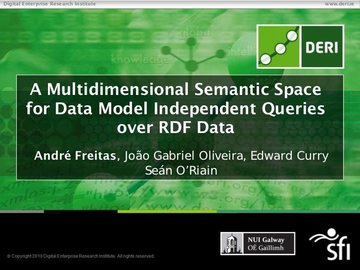 Digital Enterprise Research Institute                                          www.deri.ie             A Multidimensional ...