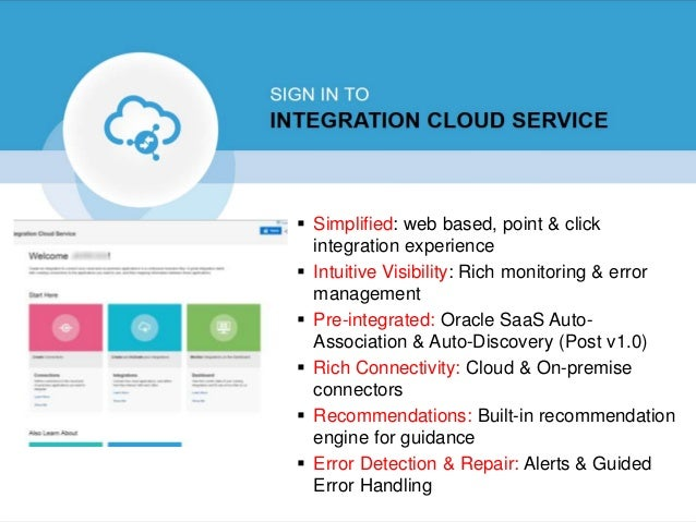 Integration Cloud Service Deep dive