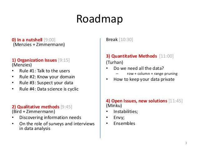 The Art and Science of Analyzing Software Data Slide 3