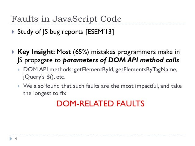 ... 4. Faults in JavaScript ...