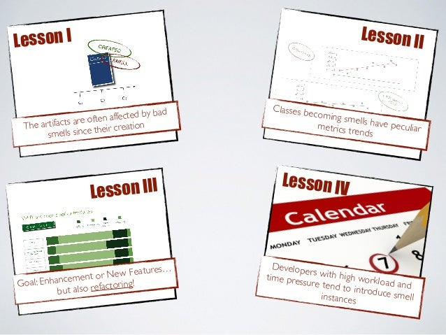 Lesson I Lesson II Goal: Enhancement or New Features… but also refactoring! Lesson III Developers with high workload and t...