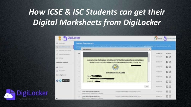 How ICSE or ISC Students can get their Digital Marksheets