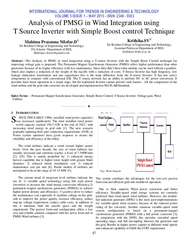 INTERNATIONAL JOURNAL FOR TRENDS IN ENGINEERING & TECHNOLOGY VOLUME 5 ISSUE 1 – MAY 2015 - ISSN: 2349 - 9303 47 Analysis o...