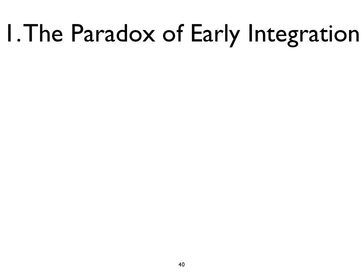 1. The Paradox of Early Integration                 40