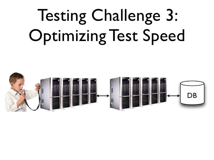 Testing Challenge 3:Optimizing Test Speed                        DB                        Disk