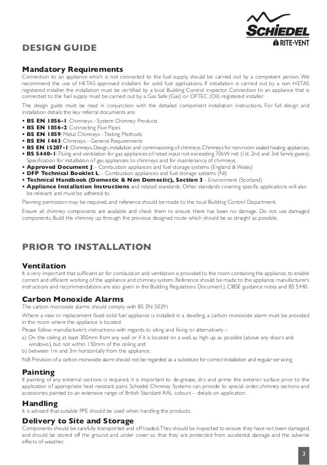 Ics Chimney Systems Installation Instructions