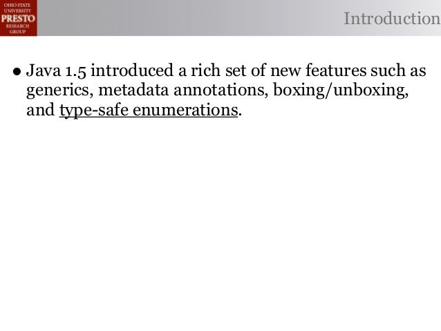 Automated Refactoring of Legacy Java Software to Enumerated Types Slide 3