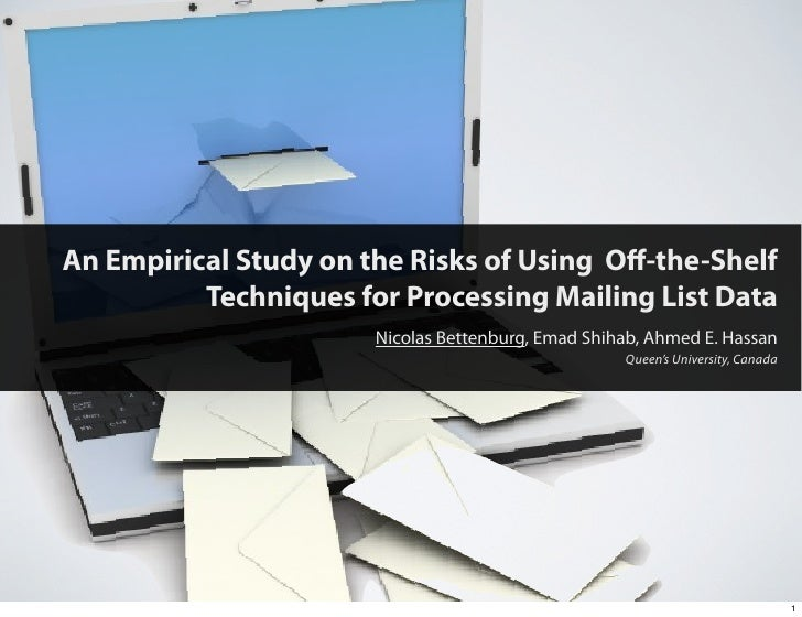 An Empirical Study on the Risks of Using Off-the-Shelf           Techniques for Processing Mailing List Data               ...