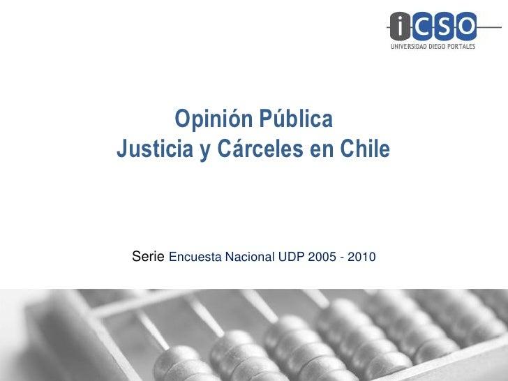 Opinión PúblicaJusticia y Cárceles en Chile Serie Encuesta Nacional UDP 2005 - 2010