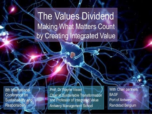 Copyright © 2018 Wayne Visser The Values Dividend Making What Matters Count by Creating Integrated Value Prof. Dr Wayne Vi...