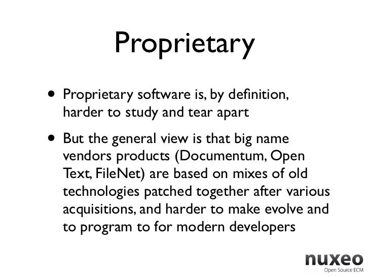 Proprietary• Proprietary software is, by definition,  harder to study and tear apart• But the general view is that big name...