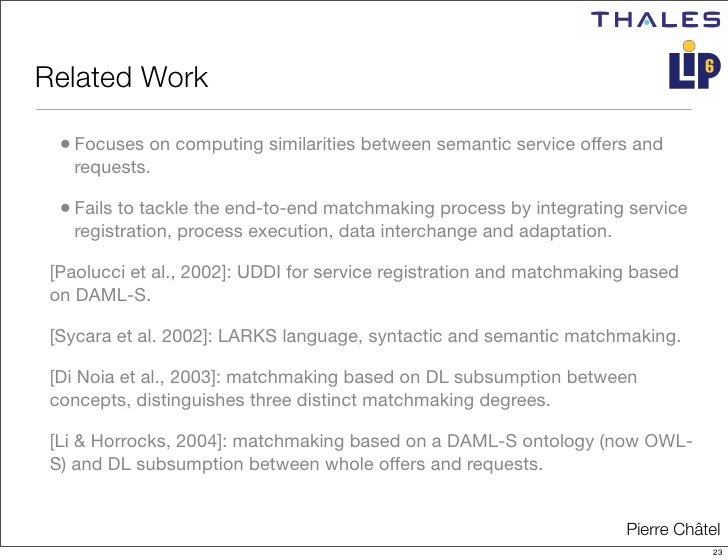 dynamic semantic matchmaking It is widely recognised that service semantics is a key element for the dynamic composition of web services, since it allows the unambiguous descriptions of a service's capabilities and parameters this paper introduces a framework for performing dynamic service composition by exploiting the semantic matchmaking.