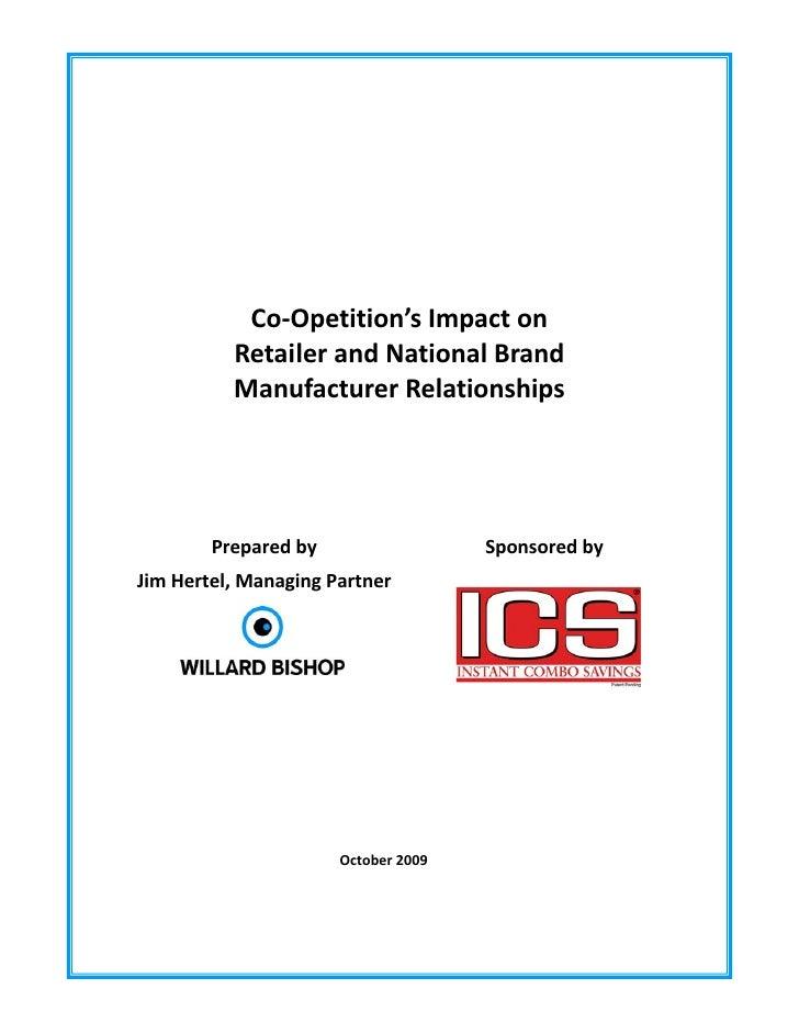 Co‐Opetition'sImpacton               RetailerandNationalBrand               ...