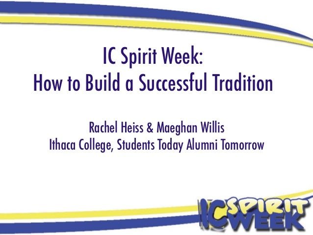 IC Spirit Week:How to Build a Successful Tradition           Rachel Heiss & Maeghan Willis  Ithaca College, Students Today...
