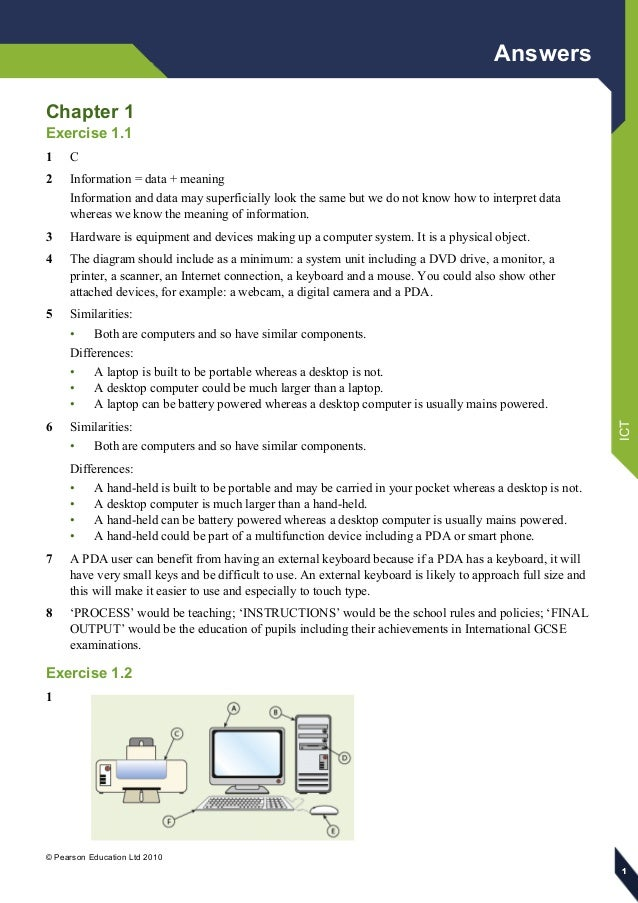 Information And Communication Technology Textbook Answers