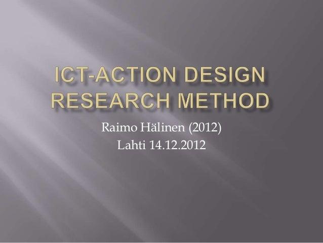 Raimo Hälinen (2012) Lahti 14.12.2012