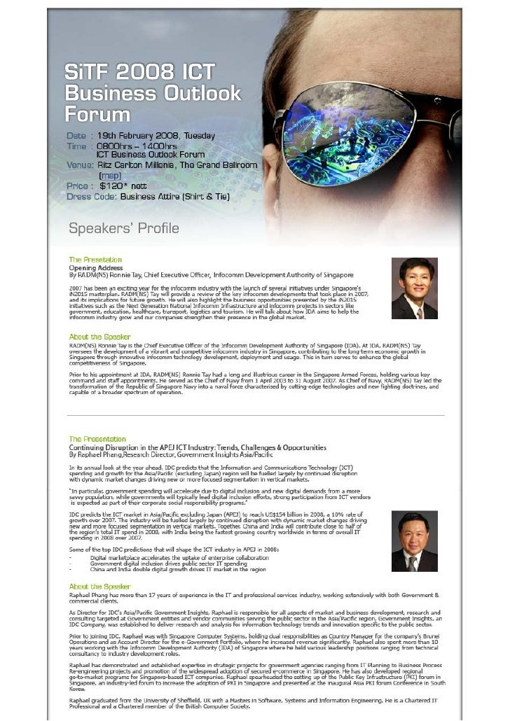 ICT Business Outlook 2008