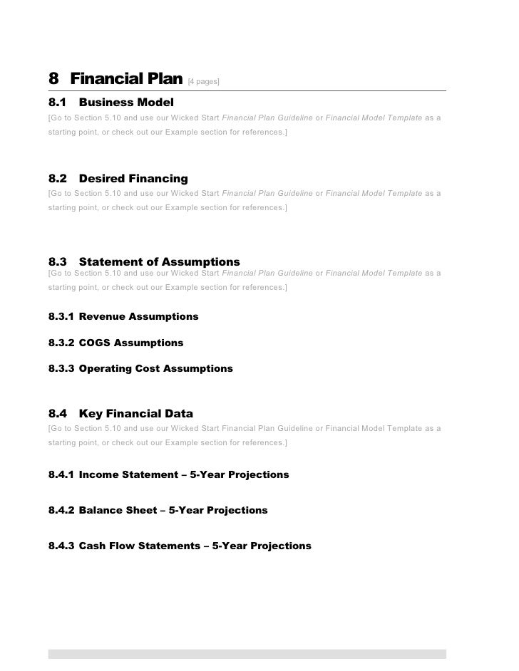 Ict business plan template projections 12 accmission Image collections