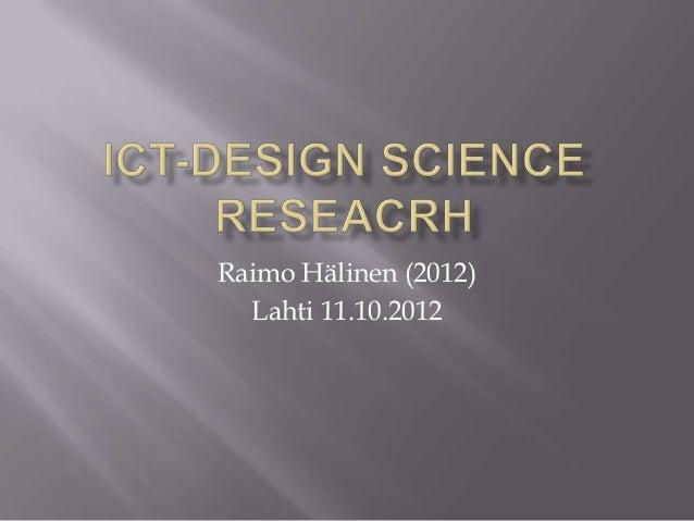 Raimo Hälinen (2012) Lahti 11.10.2012