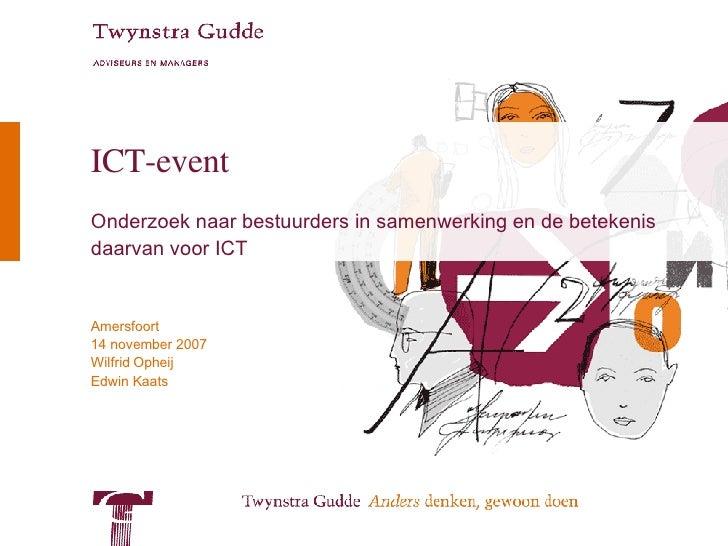 ICT-event Onderzoek naar bestuurders in samenwerking en de betekenis daarvan voor ICT