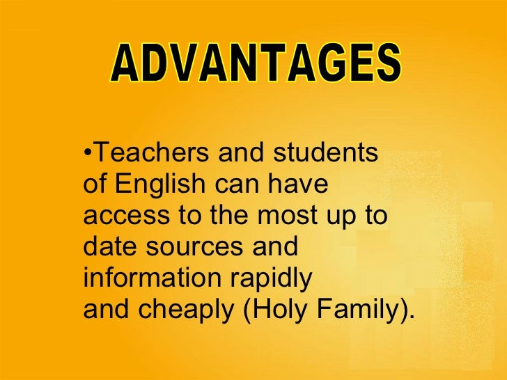 ICTs advantages and disadvantages in ELT
