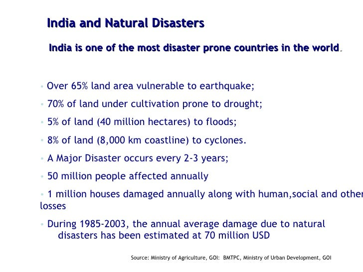 Examples Of Natural Disasters In India