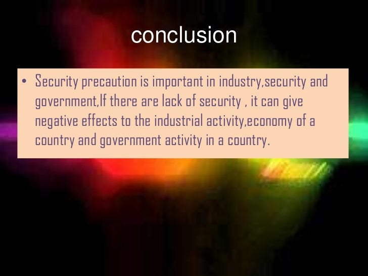 The Efect Of Lack Of Security On Industry Goverment And