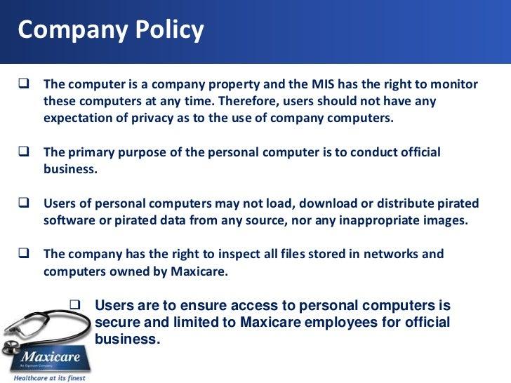 Company Policy ...