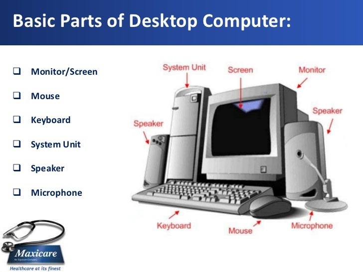 what are the components of a desktop computer
