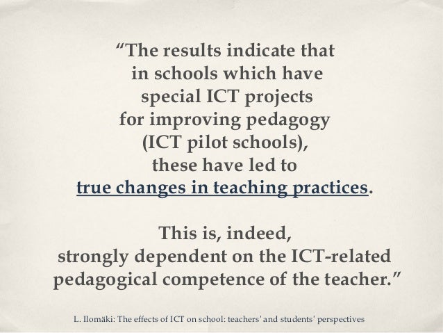 ICT in education: examples of supporting the teachers