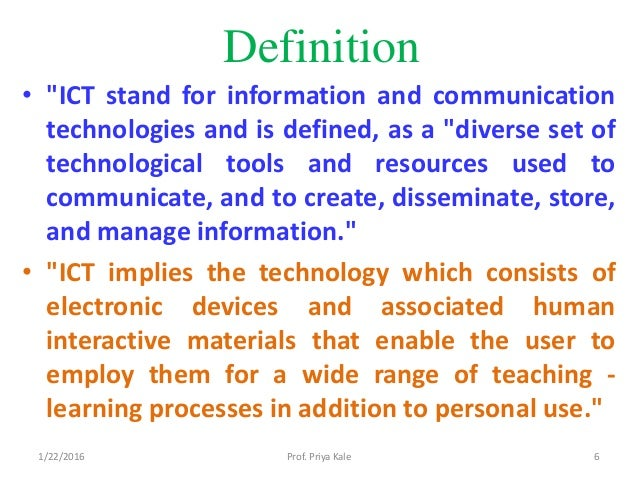 role of information and communication technology in education