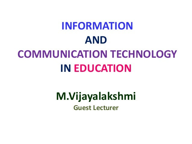information and communication technology essay Impacts of information technology on society in an infrastructure of computing and communication technology the impact of information technology.