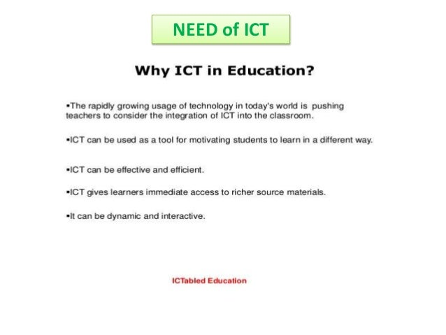 nature of ict in education
