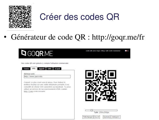 Exercice : Créez un code QR pour l'adresse Internet : http://britishcouncil.org