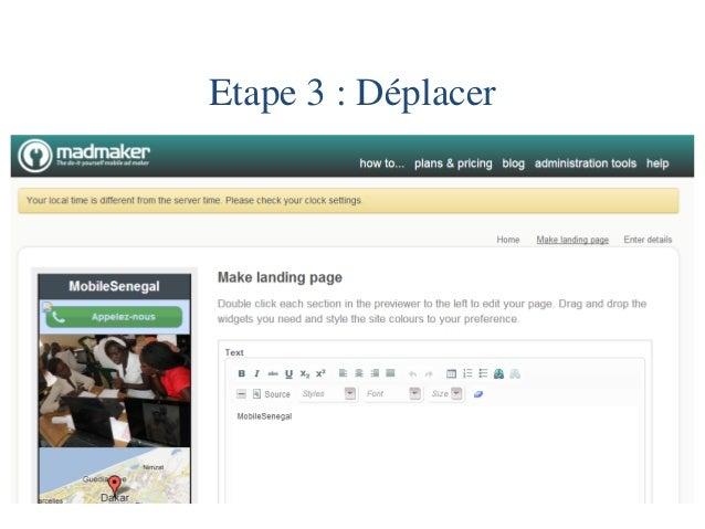 Etape 4 : Changer les couleurs  Anglais / Français  Background = fond d'écran  Header = entête  Link = lien