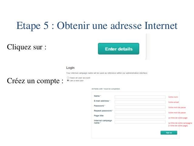 Etape 6 : Entrez votre numéro de téléphone pour obtenir l'adresse Internet de votre site