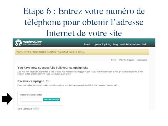 Etape 7 : Voir le site Internet  Avant l'activation du siteAprès l'activation du site