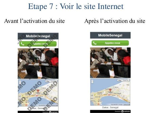 Etape 8 : Voir l'adresse Internet, les statistiques de votre site et les réponses aux quiz